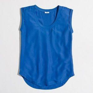 J. Crew factory drapey scoopneck top blue size 8