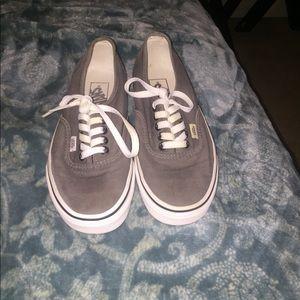 Grey vans size 6.5 in men 9/10 condition