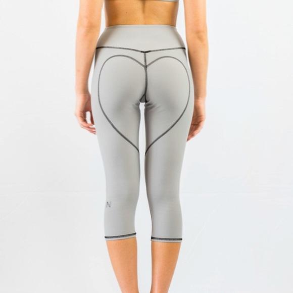 f550d4e8f5cc4 Nina B Roze Pants | Heart Butt Yoga Capri Light Grey | Poshmark