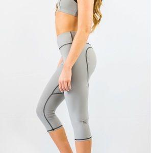 dfde8893de93b Nina B Roze Pants - Nina B Roze Heart Butt Yoga Capri Light Grey