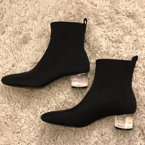 zara clear ankle boots