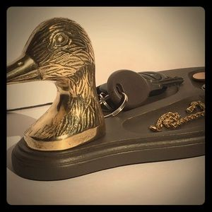Other - Mallard Hand Painted Mans Vintage Wood Valet