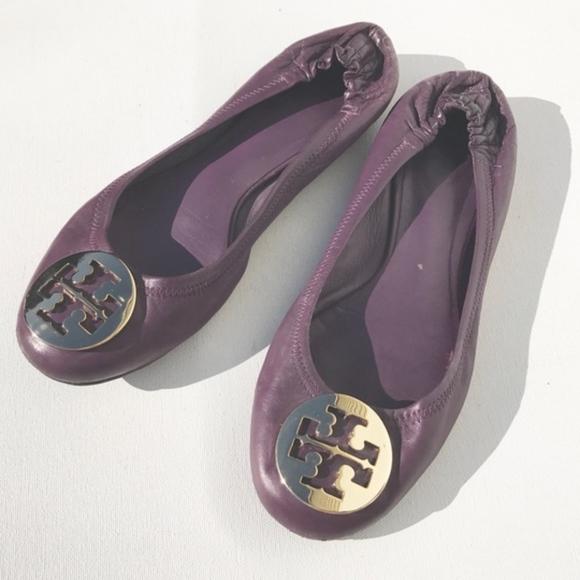 ef188843b90375 TORY BURCH Purple Reva flats Shoes size 8.5