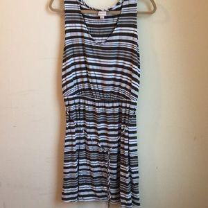 Merona green/white striped dress
