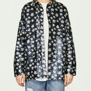 ZARA Star patterned Sequin Jacket