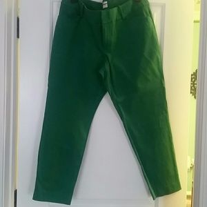 Ankle length green pants
