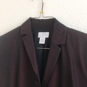 Full length suit coat deep burgundy