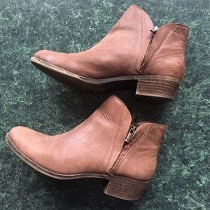 Women's Lucky Brand Brown Leather Ankle Boot | 9.5
