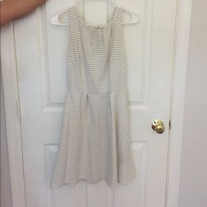 Cotten grey and ivory dress!