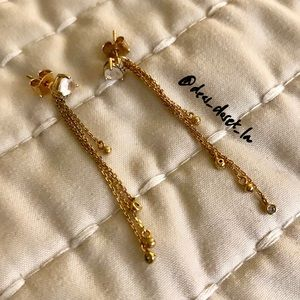Sparkly stud/drop earrings (14K gold plated posts)