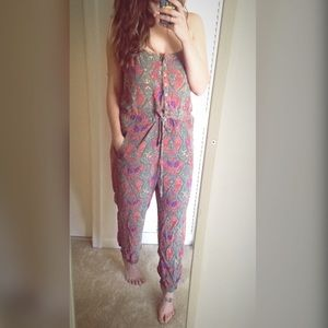 Free People Paisley Jumpsuit Medium