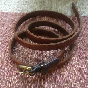 J. Crew Skinny Leather Belt