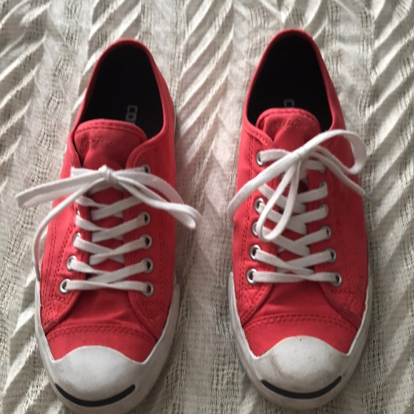 ec16427a9082e Converse Jack Purcell red sneaks
