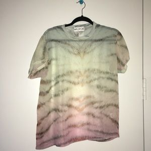 Wildfox Sheer Ombré Short Sleeve *Made in USA*
