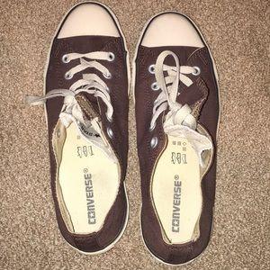 Brown & Tan Converse Sneakers - Women's 10/Men's 8