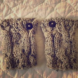 Accessories - Boot cuffs - never worn. Marled brown knit.