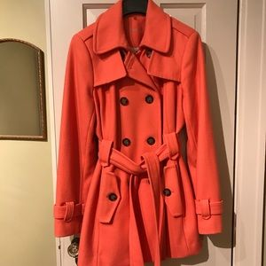 Calvin Klein  - Double Breasted Coat - Coral