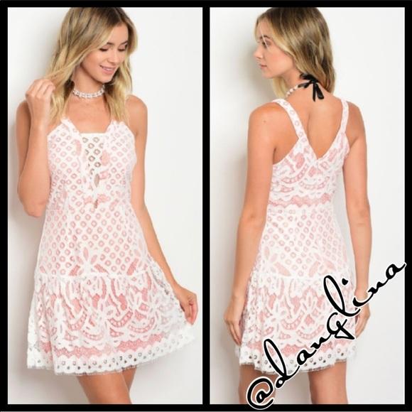 a1661c504500 danglina Dresses | Cute Baby Pink And Crochet Lace Dress | Poshmark