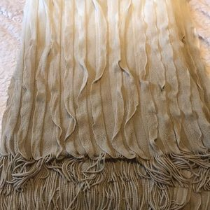 Ombré fringe throw blanket