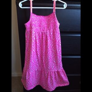Hot Pink and White Pattern Summer Dress