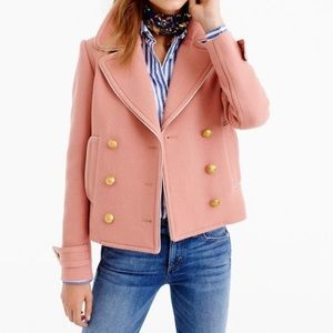 J Crew double breasted Peacoat in dusty pink SZ 8