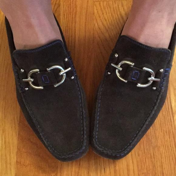 Donald J Pliner Mens Dacio Suede Slip-On Loafer