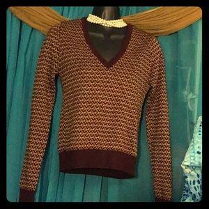 ZARA Knit V-Neck Sweater-Size Small