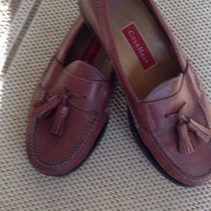 Men's Cole Haan Brown Leather Slip Ons Size 8.5 D