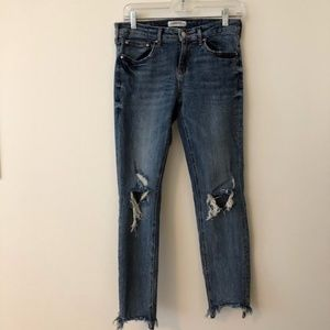 Zara Jeans - Distressed Demin - Raw Hem