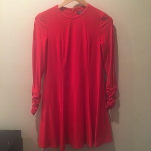 Lauren RALPH Lauren red long sleeve a-line dress