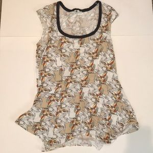 Anthropologie short sleeve shirt size xs