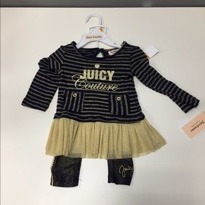 Juicy Couture 2 pc set top and pants 12m
