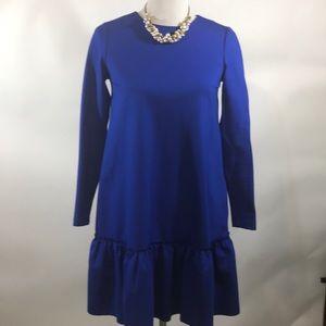 Banana Republic Blue A-line dress with ruffle 0