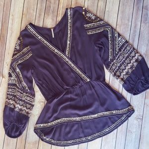 Gorgeous Embroidered Free People Boho Blouse