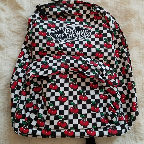 9b3a85480d Women s Vans Realm Cherry Checkers BackPack