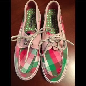 Sperry Top-Siders pink/green