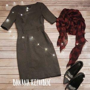 Banana Republic Dark Grey Petite Shift Dress