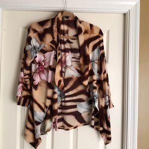 NWT Gorgeous Animal Print Milano Draped Jacket