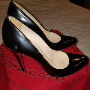 """Christian Louboutin black """"Dècolletè"""" jazz heels"""