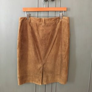 Ralph Lauren Collection suede pencil skirt