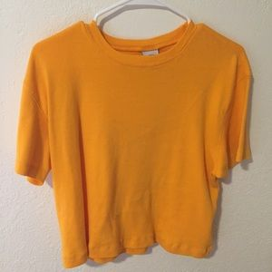 VINTAGE yellow/orange top