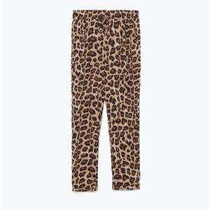 NWOT Zara Leopard Print Loose Fit Joggers