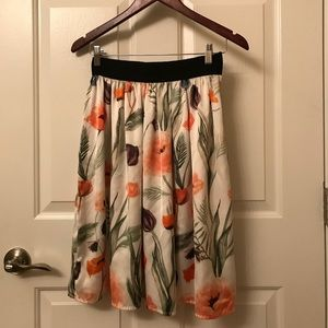 H&M Floral Skirt (size 4)