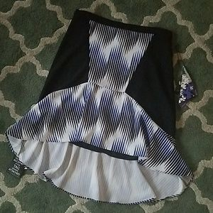 PETER PILOTTO High Low Skirt Sz 12 NEW NWT