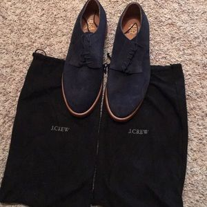 Jcrew suede oxfords