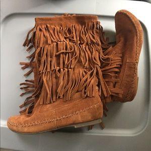 Final Price! Like New Lauren Conrad fringe boots!