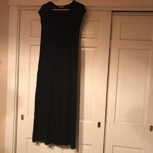 Gap maxi t-shirt dress black xs