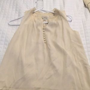 100% off white silk JCrew blouse 2P