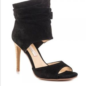 Kristin Cavallari open toe bootie in kid suede