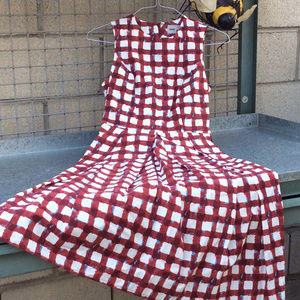 ASOS Red White Checked Dress Size 4
